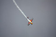 RIGA, LETTLAND - 20. AUGUST: Pilot Martin Šonka der Sieger von Lizenzfreies Stockbild