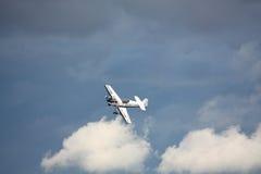 RIGA, LETTLAND - 20. AUGUST: Pilot von Finnland Sami Kontio auf KAPPE Stockfotografie