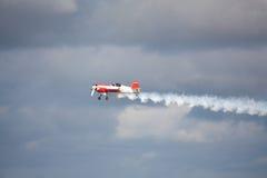 RIGA, LETTLAND - 20. AUGUST: Pilot von Russland Svetlana Kapanina an Lizenzfreies Stockbild