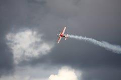 RIGA, LETTLAND - 20. AUGUST: Pilot von Russland Svetlana Kapanina an Stockbild