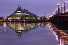 Riga, Lettland - Bibliothek Stockbilder