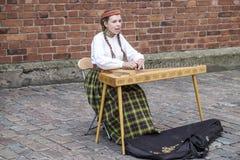 Riga, Lettland, Europa, flickamusiker och sångare Royaltyfri Bild