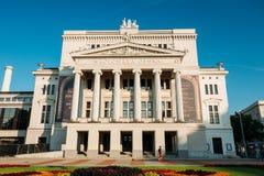Riga, Lettland Gebäude der lettischen nationalen Oper E stockfotos