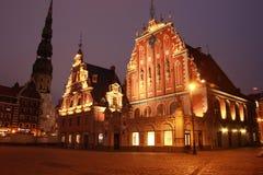 Riga Lettland - hus av pormaskarna Royaltyfri Fotografi