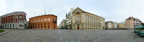 Riga Lettland huvudstad, den panorama- gammala staden beskådar. Royaltyfria Bilder