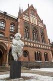 Riga, Lettland - 1. Januar 2016: Das gotische Gebäude des Ziegelsteines von ACA Stockfotos