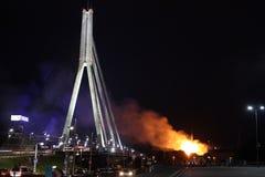 Riga, Lettland - 21. Juni: Lettischer Präsidentenpalast und Geschichte-mus lizenzfreie stockbilder