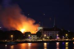 Riga, Lettland - 21. Juni: Lettischer Präsidentenpalast und Geschichte-mus Stockfotografie