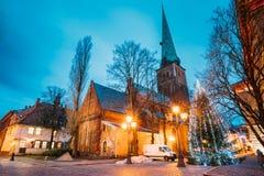 Riga, Lettland Kathedralen-Basilika von St James, Pyramidenmonument Lizenzfreie Stockbilder