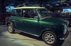 RIGA, LETTLAND - 16. OKTOBER: Retro- Auto des Jahres ROVER 1991 Minim VI Riga-Bewegungsmuseum, am 16. Oktober 2016 in Riga, Lettl Lizenzfreies Stockbild