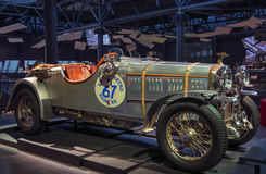 RIGA LETTLAND - OKTOBER 16: Retro bil av museet 1924 för årsAMILCAR CGS Riga motor, Oktober 16, 2016 i Riga, Lettland Royaltyfri Fotografi