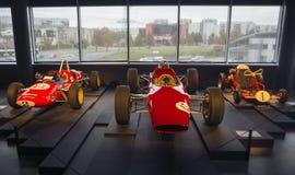 RIGA LETTLAND - OKTOBER 16: Retro museum för bilRiga motor, Oktober 16, 2016 i Riga, Lettland Fotografering för Bildbyråer