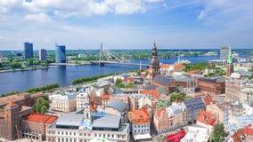 Riga, Lettland Panoramablick des Rigas lizenzfreie stockbilder