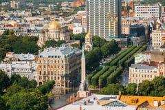 Riga, Lettland Riga-Stadtbild in Sunny Summer Day Draufsicht von Fa Stockfoto
