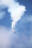 RIGA, LETTONIA - 20 AGOSTO: Pilota da U.S.A. Jeff Boerboon sul supplemento Fotografia Stock