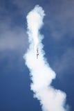 RIGA, LETTONIA - 20 AGOSTO: Pilota da U.S.A. Jeff Boerboon sul supplemento Immagini Stock