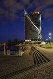 Riga, Lettonia, Europa, dal ponte di dienvidu Immagine Stock Libera da Diritti