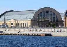 Riga, Lettonia, il 15 luglio 2015 Padiglione del mercato centrale Immagine Stock