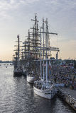 Riga, Lettonia, regata reale di grandi barche a vela Fotografie Stock Libere da Diritti