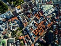 Riga, Lettonia - settembre 2016: Vista aerea sopra oldtown Fotografie Stock Libere da Diritti
