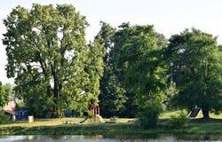 Riga, Lettonie, le 15 juillet 2015 Terrain de jeu AR Lucavsala d'enfants Image libre de droits