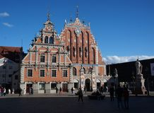 Riga Lettonie Schwarzhauptenhaus Photographie stock libre de droits