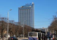 Riga modern byggnad i den historiska mitten Royaltyfri Foto