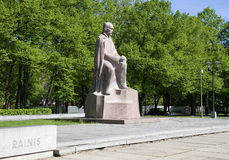 Riga. Monument to the Latvian writer and poet Rainis. Royalty Free Stock Photography