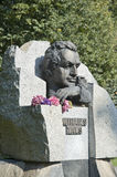 Riga.  A monument to Mikhail Tal to the world champion and Euro Stock Images
