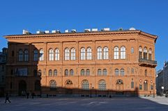 Riga, musée du bâtiment étranger d'art photos stock