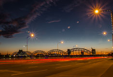 Riga na noite Imagens de Stock Royalty Free