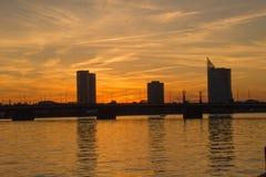 Riga na noite Imagem de Stock