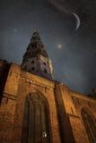 Riga nachts Stockfotografie