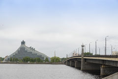Riga The National Library Stock Photo