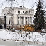 Riga National Opera in the winter Royalty Free Stock Photos