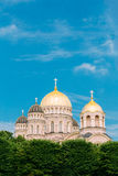 Riga Nativity Of Christ Cathedral - Famous Church On Blue Sunny Royalty Free Stock Image
