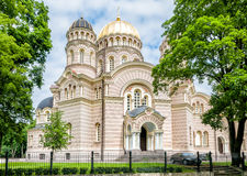 Riga Nativity of Christ Orthodox Cathedral. Royalty Free Stock Photo