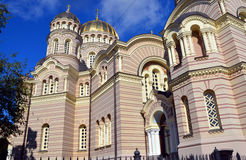 Riga Nativity of Christ Orthodox Cathedral Stock Photo