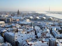 Riga nell'inverno Fotografia Stock Libera da Diritti