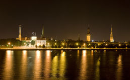 Riga at night Royalty Free Stock Photo