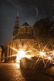 Riga at night. stock photography