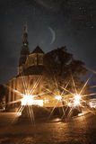 Riga at night. Royalty Free Stock Images