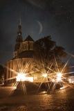 Riga at night. royalty free stock images