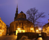Riga in the night Royalty Free Stock Photography