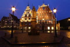 Riga in the night. Latvia Stock Image