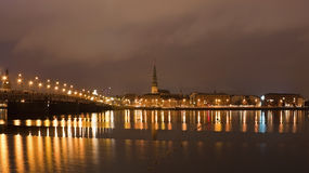 Riga night scene Royalty Free Stock Images