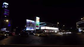 Riga Night Time Traffic stock footage