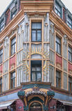 Riga Old House Corner Facade Royalty Free Stock Photo