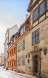 Riga Old Narrow Street Royalty Free Stock Photos