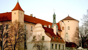 Riga old town. Riga castle from not most typical side Royalty Free Stock Image